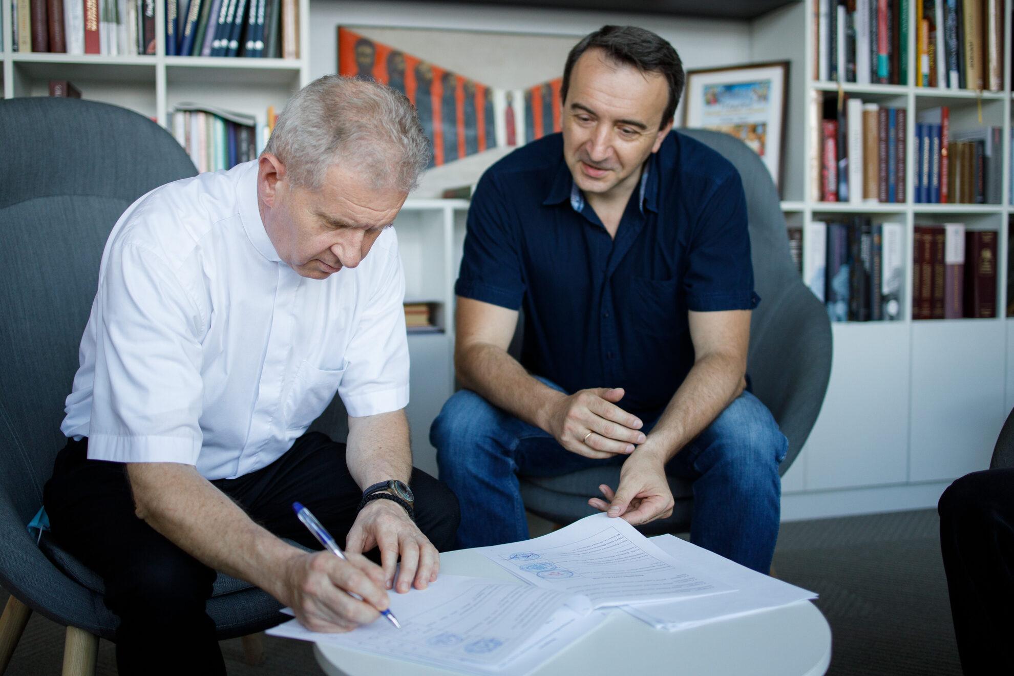 Підписання Меморандуму «Про співпрацю бібліотек богословських навчальних закладів України»